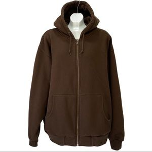 Cabela's 2XL Tall Brown Hooded Zippered Sweater